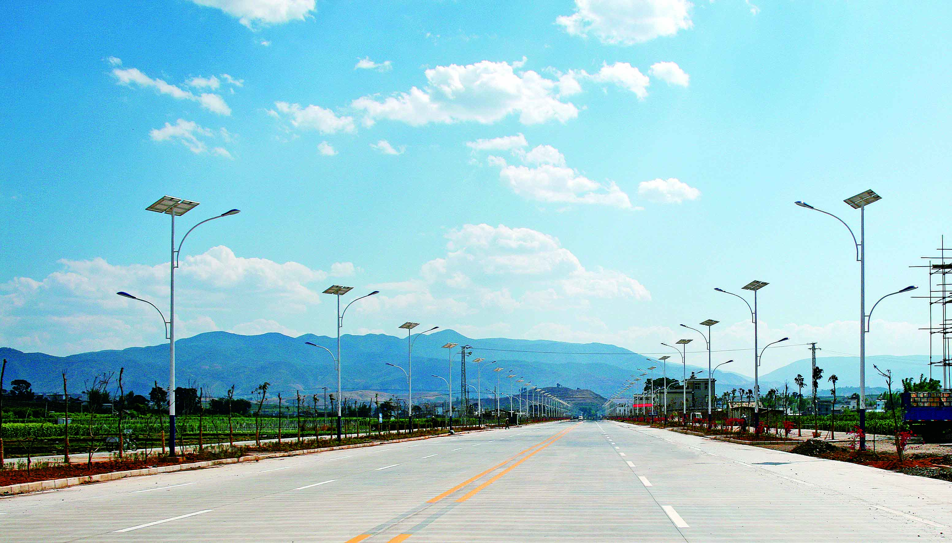 Solar street lighting project in Ordos